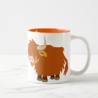 Cute Cartoon Highland Cow Mug