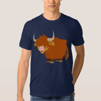 Cute Cartoon Highland Cow T-Shirt