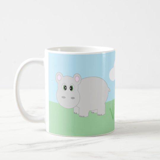 Cute Cartoon Hippo Hippopotamus Mug