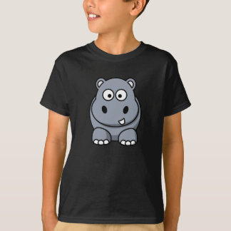 Cute Cartoon Hippo T-Shirt