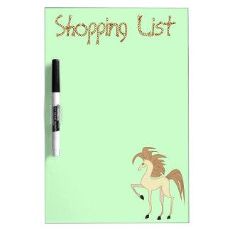 Cute Cartoon Horse Shopping List Dry Erase Board
