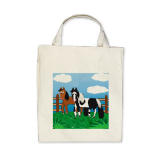 Cute Cartoon Horses Bags