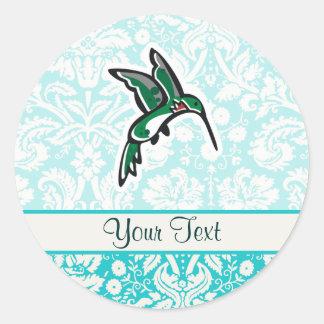 Cute Cartoon Hummingbird Classic Round Sticker