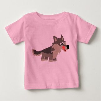 Cute Cartoon Hungry Wolf  Baby  T-Shirt