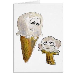 Cute Cartoon Ice Cream Cones Cards
