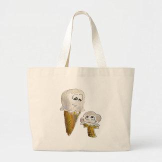 Cute Cartoon Ice Cream Cones Jumbo Tote Bag