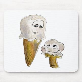 Cute Cartoon Ice Cream Cones Mouse Pad