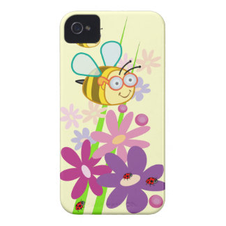 Cute cartoon iPhone 4 / 4S case-mate with Bees