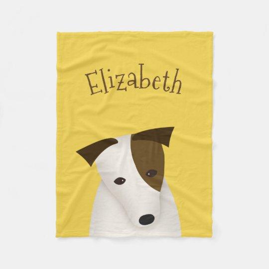 cute cartoon Jack Russell Fleece Blanket