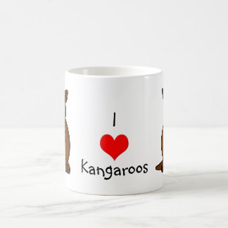 Cute Cartoon Kangaroo and Baby Joey Coffee Mug