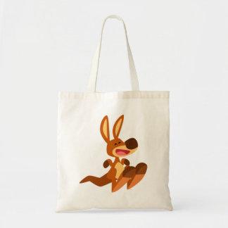 Cute Cartoon Kangaroo Joey Tote Bag