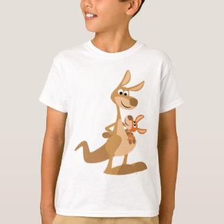 Cute Cartoon Kangaroo Mum and Joey Kids T-Shirt