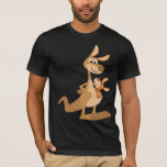 Cute Cartoon Kangaroo Mum and Joey T-Shirt