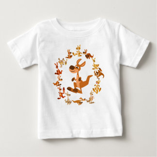 Cute Cartoon Kangaroos Mandala Baby T-Shirt