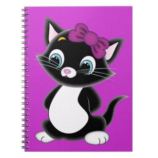 Cute Cartoon Kitten Notebooks