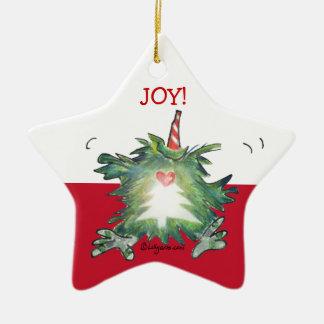 Cute Cartoon Kiwi Christmas Star Ornament