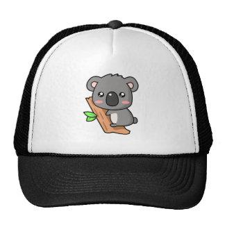 Cute Cartoon Koala Bear on Eucalyptus Tree Mesh Hats