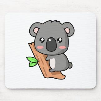 Cute Cartoon Koala Bear on Eucalyptus Tree Mouse Mat