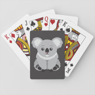 Cute cartoon Koala Bear Playing Cards