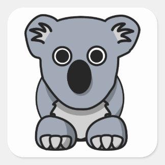 Cute cartoon koala bear square sticker