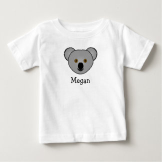 Cute cartoon koala personalized with childs name baby T-Shirt