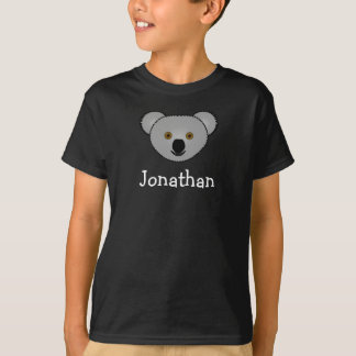 Cute cartoon koala personalized with childs name tee shirts