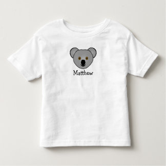 Cute cartoon koala personalized with childs name tees