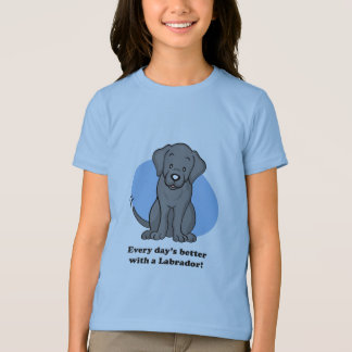 Cute Cartoon Labrador Kid T-shirt