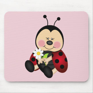 Cute Cartoon Lady Bug Mouse Mat