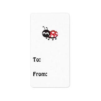 Cute Cartoon Ladybug Address Label