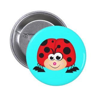 Cute Cartoon Ladybug Button
