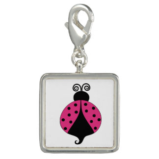 Cute Cartoon Ladybug Charm Key Chain