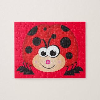 Cute Cartoon Ladybug Jigsaw Puzzle