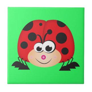 Cute Cartoon Ladybug Tile