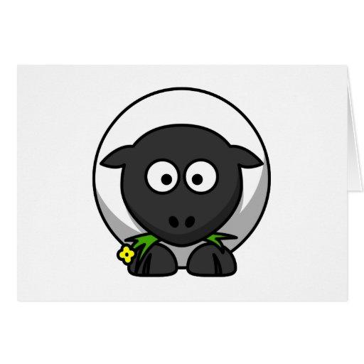 Cute Cartoon Lamb Card