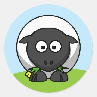 Cute Cartoon Lamb Classic Round Sticker