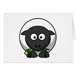 Cute Cartoon Lamb Note Card