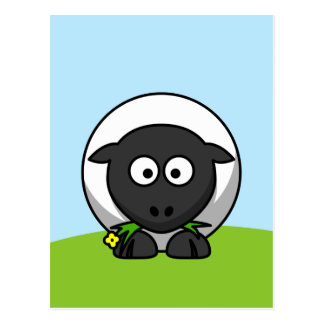 Cute Cartoon Lamb Postcard