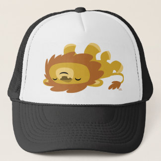 Cute Cartoon Lazy Lion Trucker Hat