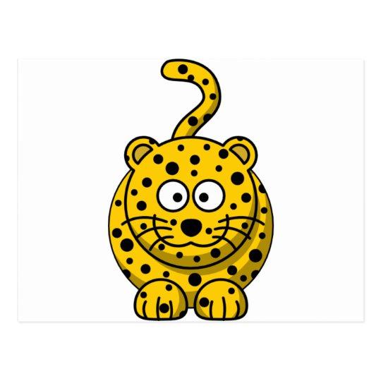 Cute Cartoon Leopard Postcard