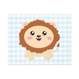 Cute cartoon Lion Gallery Wrapped Canvas