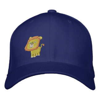Cute Cartoon Lion front right Embroidered Baseball Cap