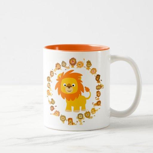 Cute Cartoon Lion Mandala Mug