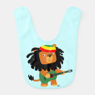 Cute Cartoon Lion of Zion Baby Bib