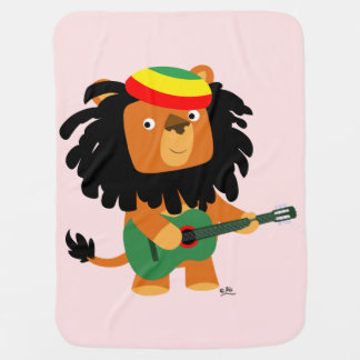 Cute Cartoon Lion of Zion Baby Blanket