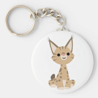 Cute Cartoon Lynx  Keychain