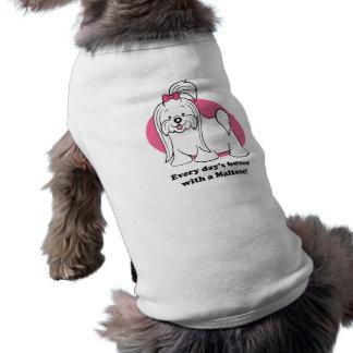 Cute Cartoon Maltese Pet Clothing