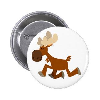 Cute Cartoon Merry Moose Button Badge