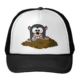 Cute Cartoon Mole Popping Up Out of the Ground Cap