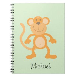 Cute Cartoon Monkey Notebook